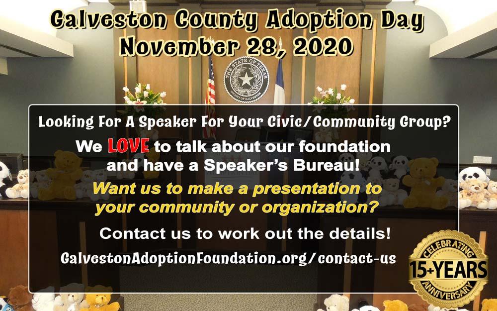 galveston community speaker